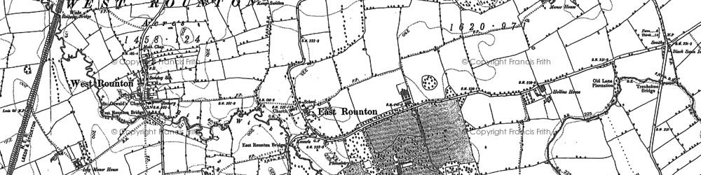 Old map of West Rounton Grange in 1892