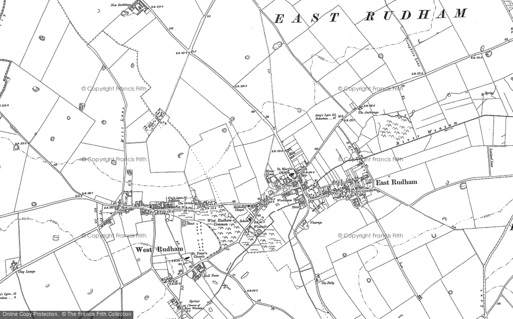 Old Map of East Rudham, 1885 in 1885