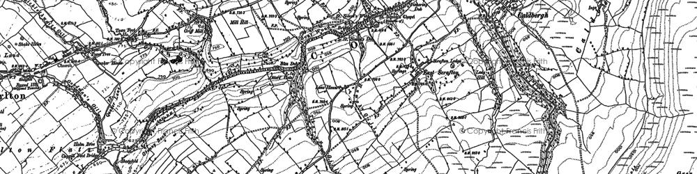 Old map of Wilder Botten in 1891