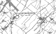 Old Map of East Studdal, 1872 - 1897