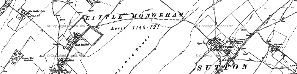 Old map of White Cliffs Country Trail in 1872