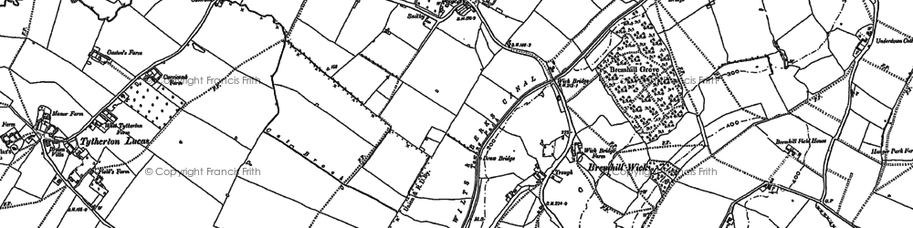 Old map of Bremhill Wick in 1899