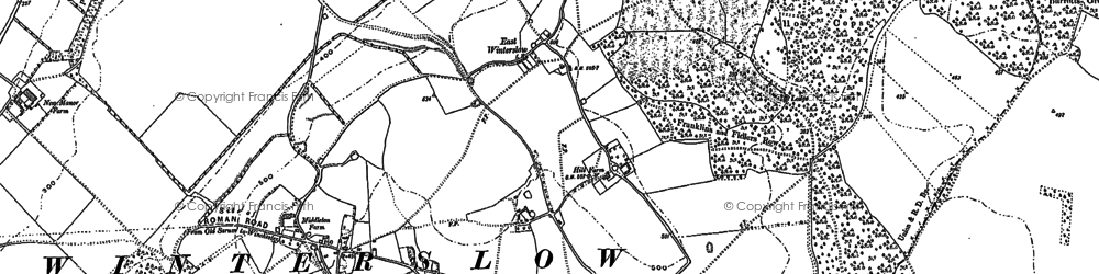 Old map of Ashley's Copse in 1908