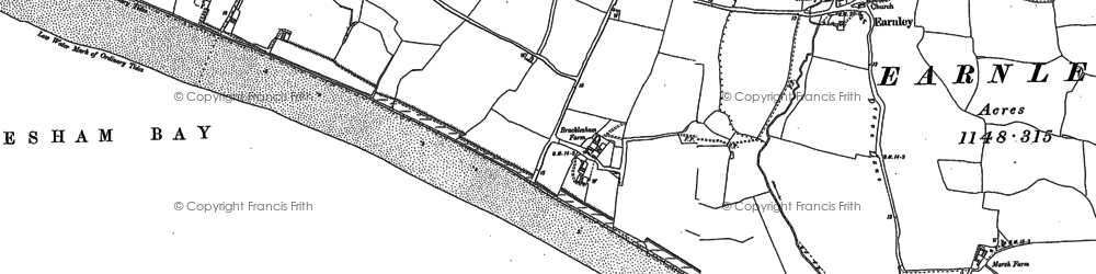 Old map of East Wittering in 1898