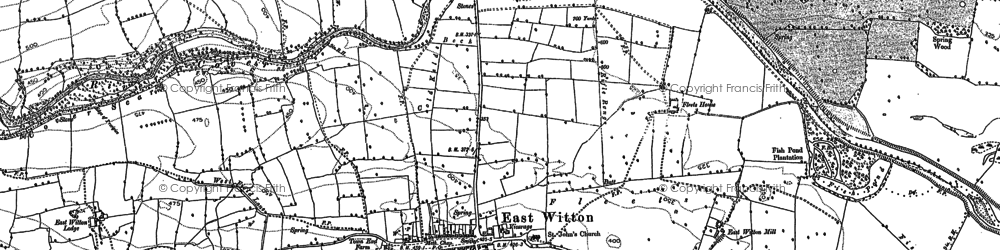 Old map of East Witton in 1891
