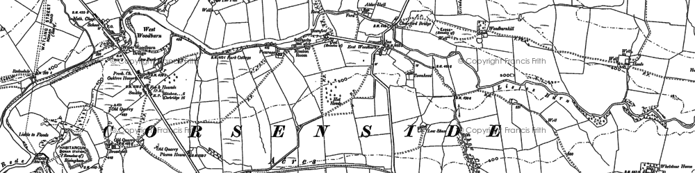 Old map of Whetstone Ho in 1896