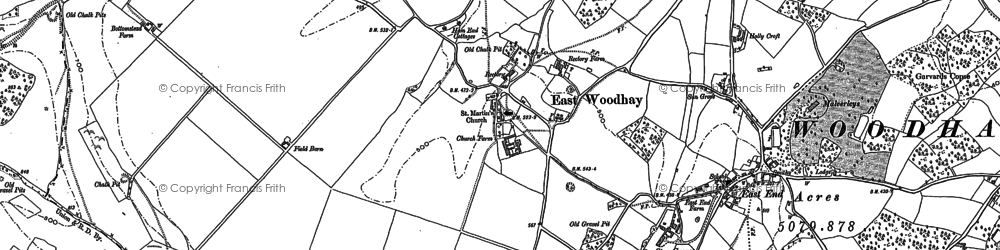Old map of Woolton House Stud in 1909