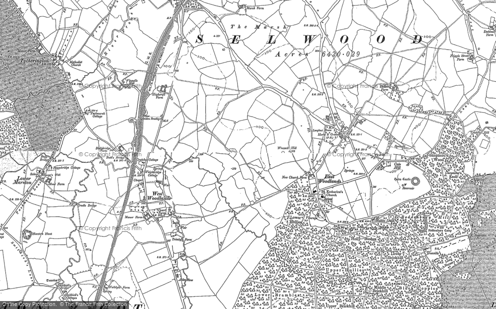 Old Map of Historic Map covering Timbers Hill in 1902