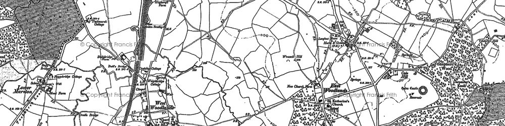 Old map of Wraxall Hill in 1902