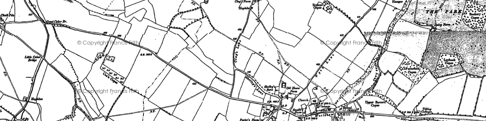 Old map of East Worldham in 1895