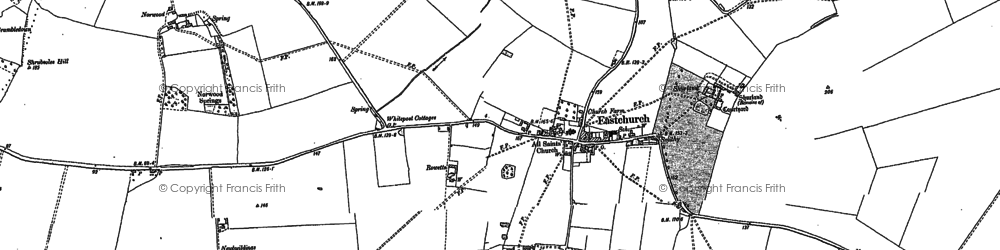 Old map of Eastchurch in 1896