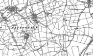 Old Map of Eastcote, 1883