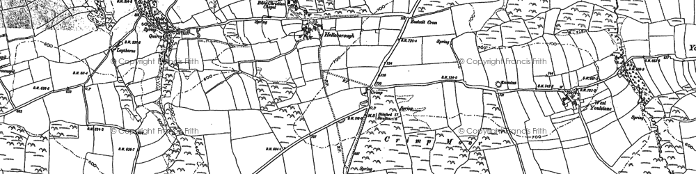 Old map of Eastcott in 1887