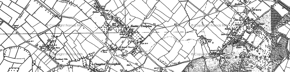 Old map of Easter Compton in 1901