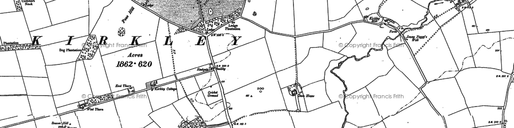 Old map of West Thorn in 1895