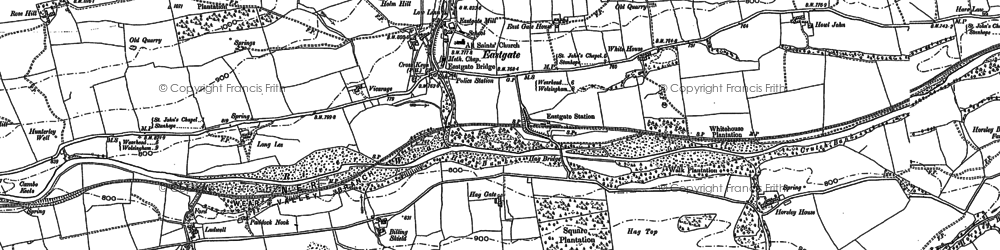 Old map of Aller Gill in 1895