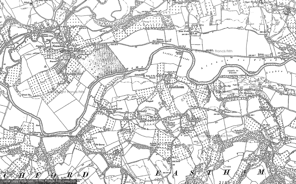 Old Map of Eastham, 1883 - 1902 in 1883