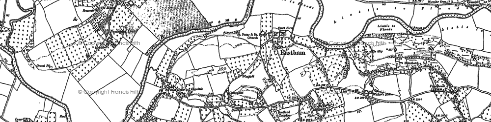 Old map of Eastham in 1883
