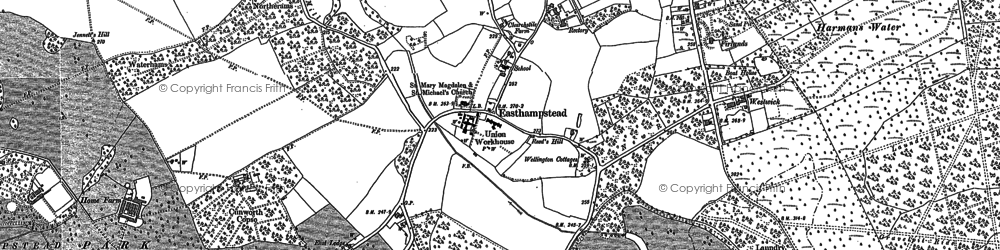 Old map of Easthampstead in 1898