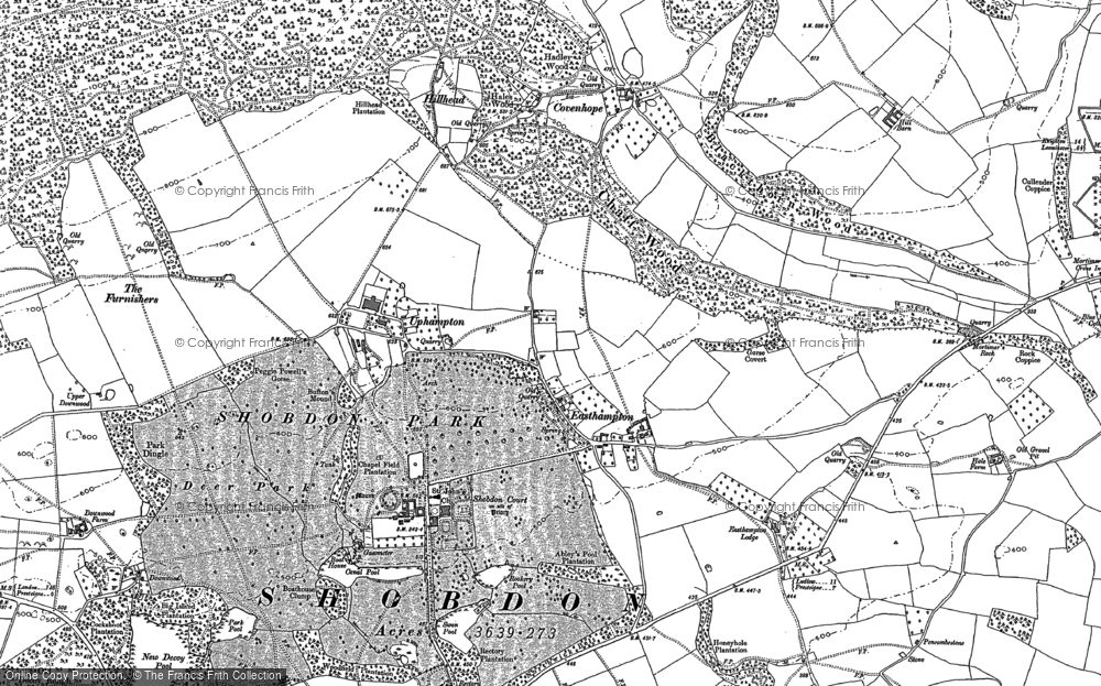 Old Map of Historic Map covering Ledicot in 1885