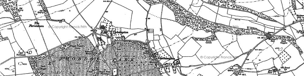 Old map of Ledicot in 1885