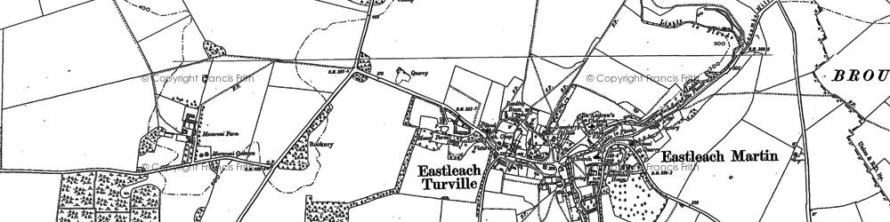 Old map of Akeman Street (Roman Road) in 1900