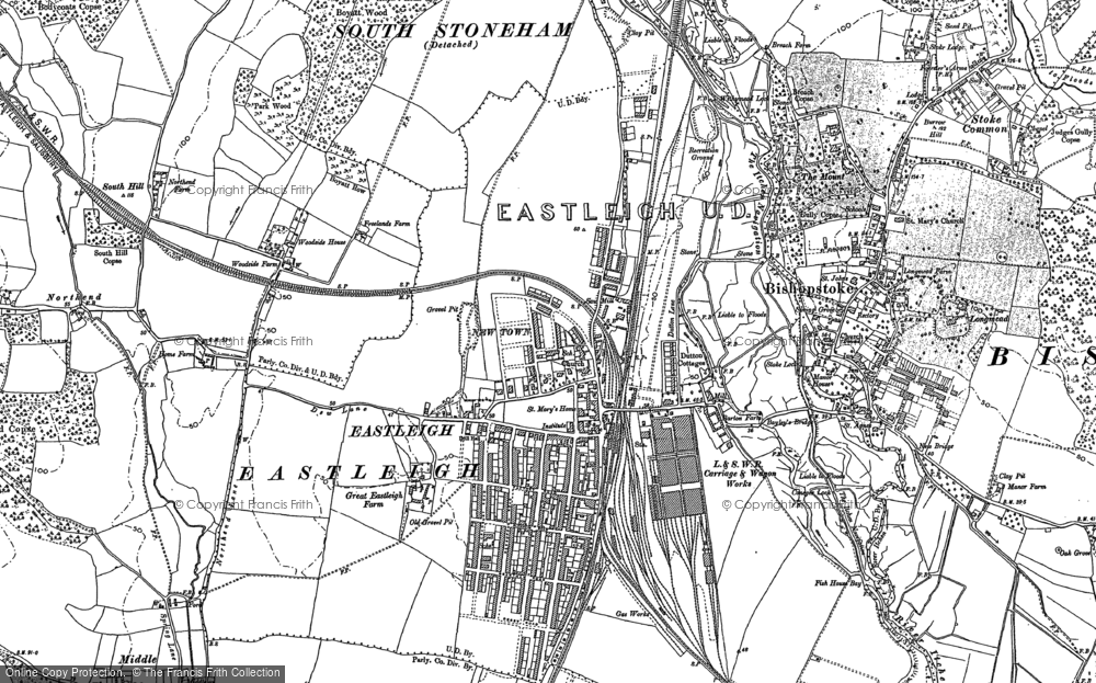 Old Map of Eastleigh, 1895 in 1895