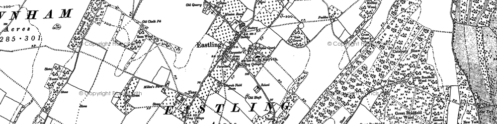 Old map of Yewhedges in 1896