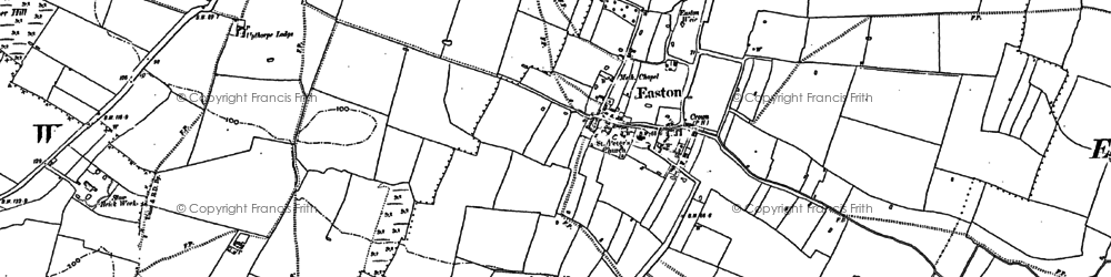 Old map of Whitleather Lodge in 1887