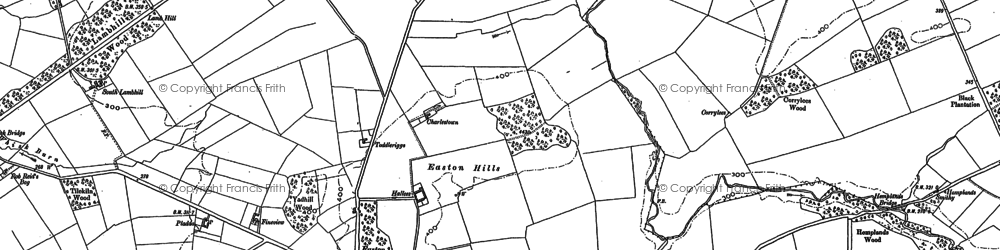 Old map of Baileytown in 1899