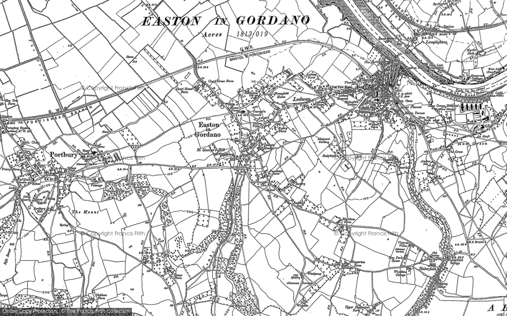 Old Map of Easton-in-Gordano, 1902 in 1902