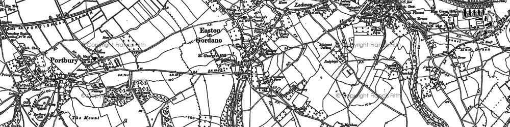 Old map of Easton-in-Gordano in 1902