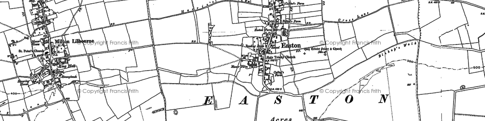 Old map of Easton Royal in 1899