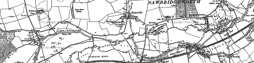 Old map of Eastwick in 1916
