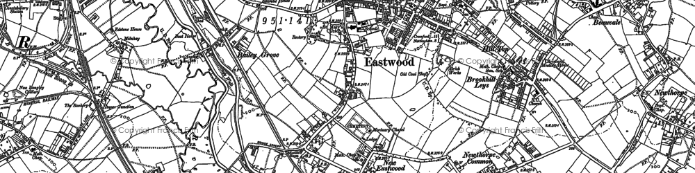 Old map of Eastwood in 1899
