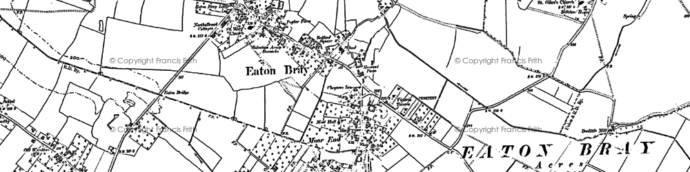 Old map of Eaton Bray in 1900