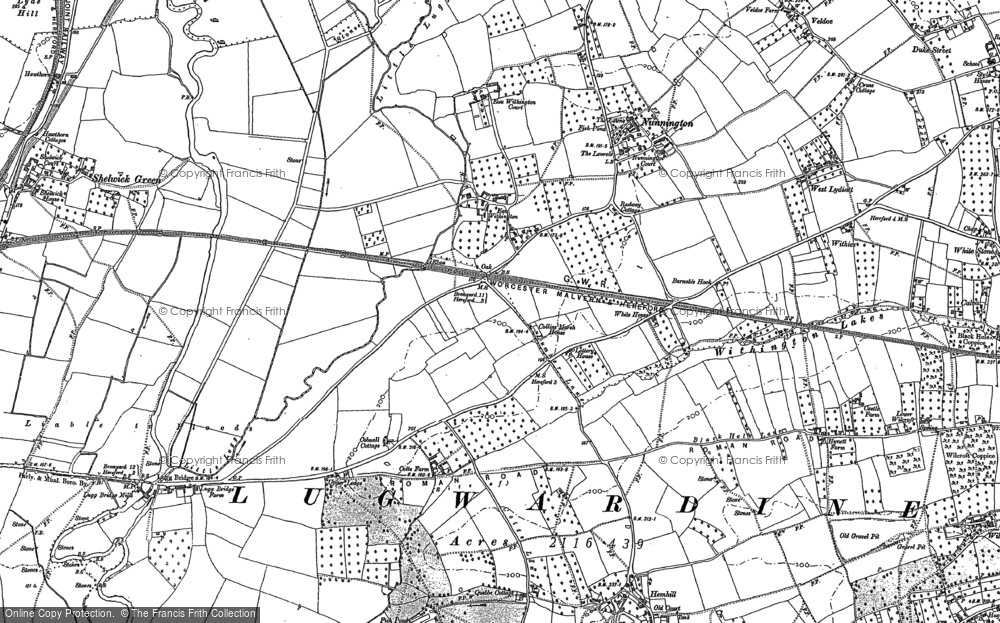 Old Map of Eau Withington, 1886 in 1886