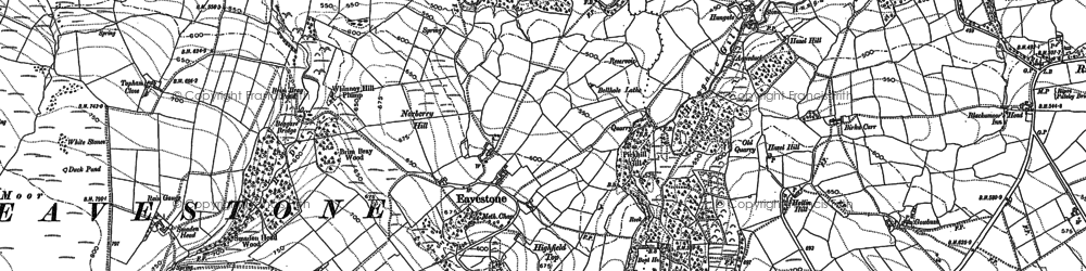 Old map of Yaudhouse Head in 1908