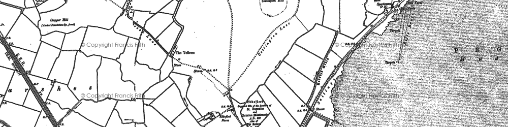 Old map of Back Sand Point in 1896