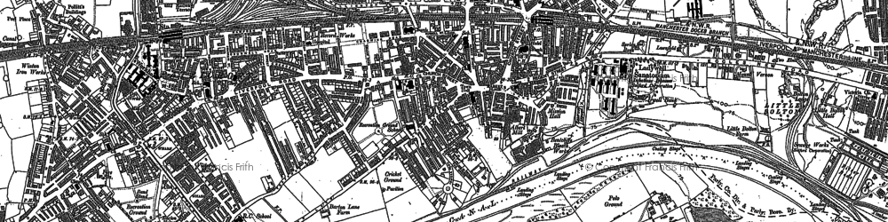 Old map of Eccles in 1889