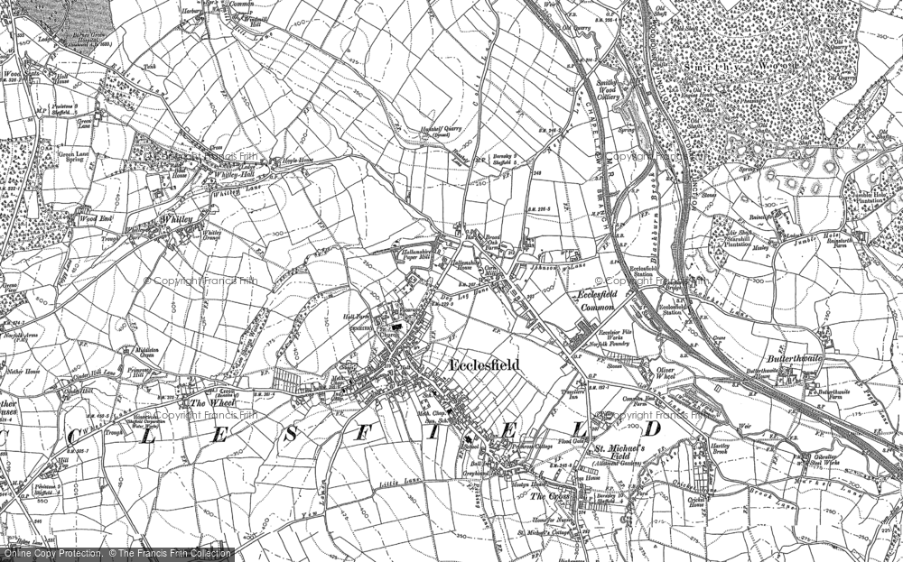 Map of Ecclesfield, 1890 - 1891
