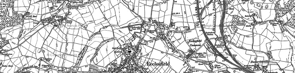 Old map of Ecclesfield in 1890