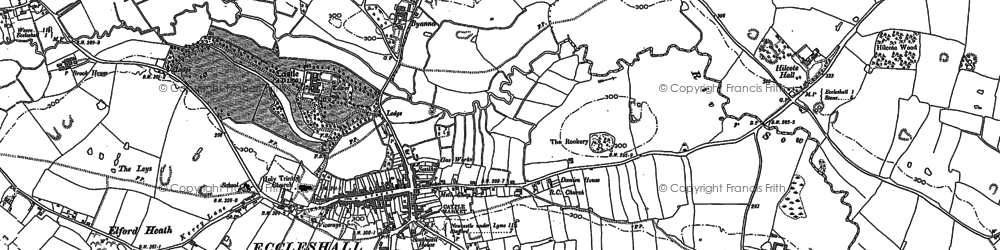 Old map of Acton Hill in 1879
