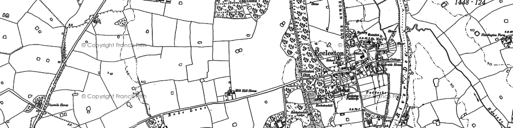 Old map of Eccleston in 1908