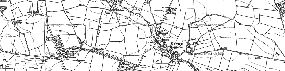 Old map of Adel Dam in 1891