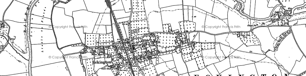 Old map of Eckington in 1884