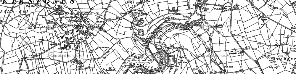 Old map of Wettonmill in 1898