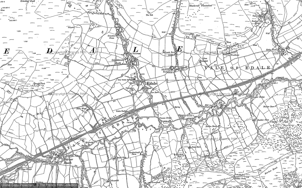 Old Map of Historic Map covering Back Tor in 1880