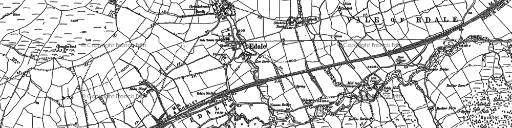 Old map of Back Tor in 1880