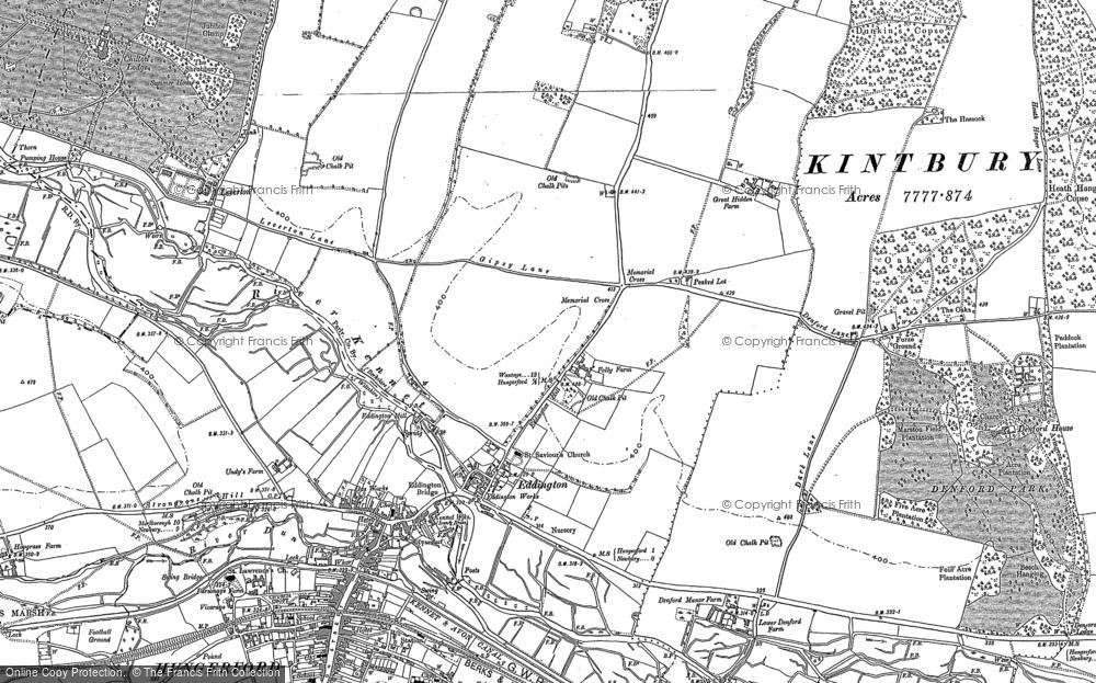Old Map of Eddington, 1899 - 1909 in 1899